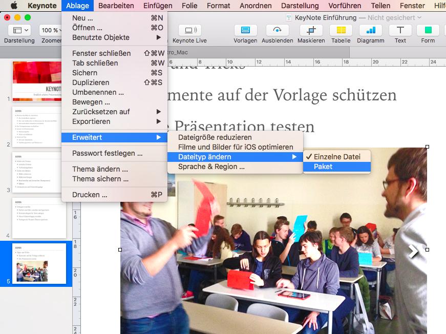Große Bilder in Keynote Präsentationen identifizieren - friendly ...